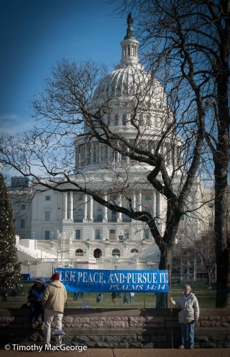 Demonstrators in front of US Capitol (Dec. 2012)